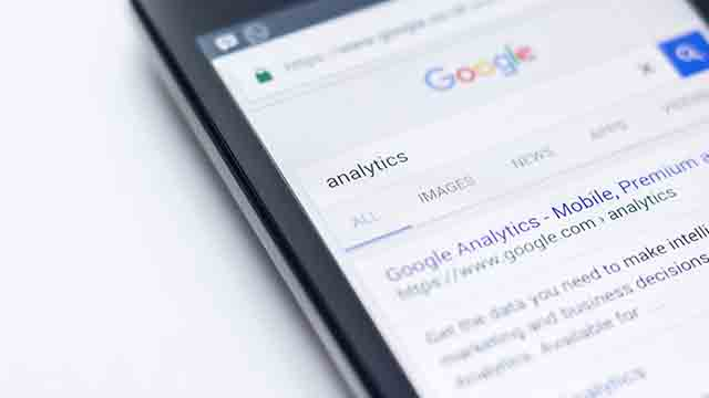Searching Google analytics paid search tools on mobile